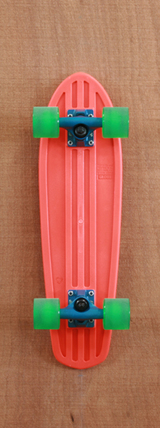 "Globe 24"" Bantam Orange / Clear Green Skateboard Complete"