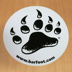 Barfoot Sticker White Round