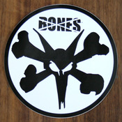 Bones Sticker Bones Rat Black on White 6""