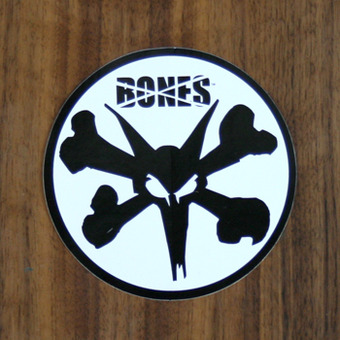 Bones Sticker Bones Rat Black on White 4""