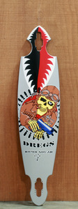"Dregs 42"" Alpine Humpston Drop Thru Longboard Deck"
