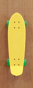 "Globe 24"" Bantam Yellow / Clear Green Skateboard Complete"
