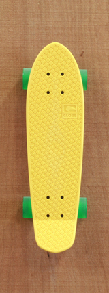 "Globe 24"" Bantam Skateboard Complete - Yellow/Clear Green"