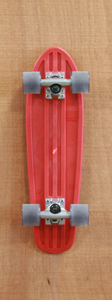"Globe 24"" Bantam Skateboard Complete - Red/Clear Black"