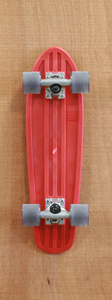 "Globe 24"" Bantam Red / Clear Black Skateboard Complete"