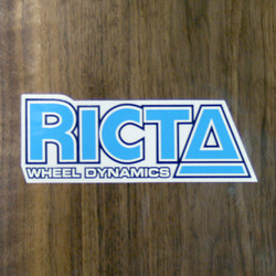 "Ricta Sticker 5"" Blue"