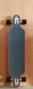 "Dregs 40"" Paradox Stiffy Longboard Complete Black/Red"