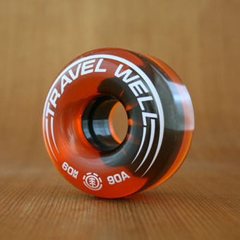 Element Travel Well Street Spin 60mm 90a Orange Wheels