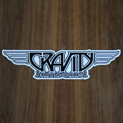 "Gravity Sticker 10.75"" Logo Decal Black"