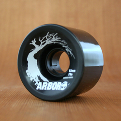 Arbor 63mm 78a Black Street Wheels