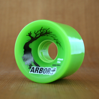 Arbor Hybrid 63mm 78a Wheels - Green