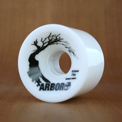 Arbor Hybrid 63mm 78a Wheels - White
