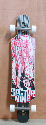 "Sector 9 41.25"" Eye Dropper Pink Longboard Complete"
