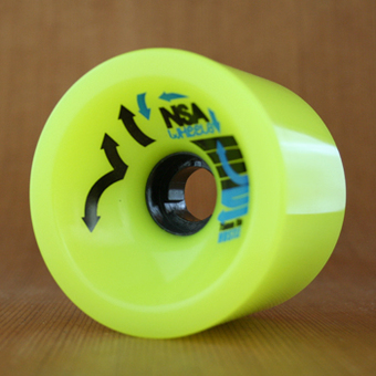 Never Summer Hustle 75mm 78a Wheels - Yellow