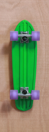 "Globe 24"" Bantam Green / Clear Purple Skateboard Complete"