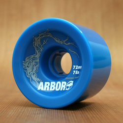 Arbor Freeride 72mm 78a Wheels - Blue