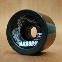 Arbor Freeride 72mm 78a Wheels - Black