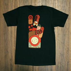 GoldCoast Peace Black T-Shirt