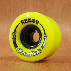 Abec11 Retro Freeride 72mm 83a Wheels - Lemon