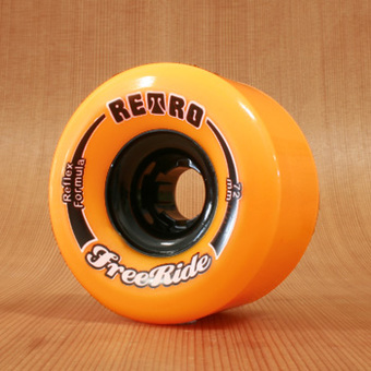 Abec11 Retro Freeride 72mm 86a Wheels - Orange