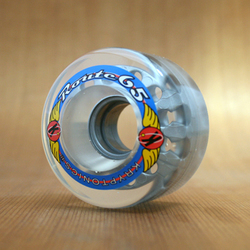 Kryptonics Route 65mm 78a Clear Wheels