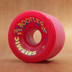 Seismic Bootleg 70mm 80a Wheels - Red