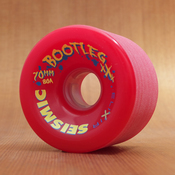 Seismic Bootleg 70mm 80a Red Wheels