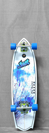 "Lost 34"" Rocket Blue Splatter Longboard"