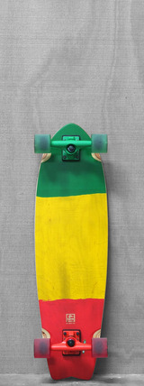 "Globe 33"" Chromantic Cruiser Rasta Longboard"