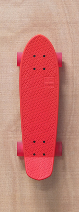 "Globe 24"" Bantam Skateboard Complete - Red/Clear Red"