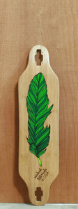 "Madrid 38"" Feather Pen Bamboo Longboard Deck"