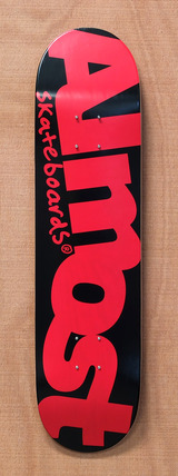 "Almost Word Mark Black / Red 7.75"" Skateboard Deck"