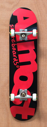 "Almost Word Mark Black / Red 7.75"" Skateboard Complete"