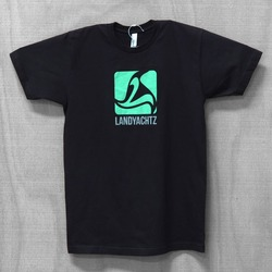 Landyachtz Green Star Logo Black T-Shirt