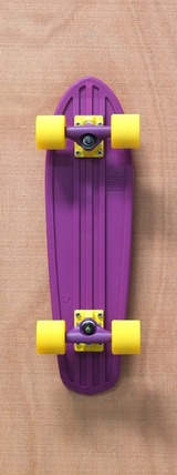 "Globe 24"" Bantam Purple / Yellow Skateboard Complete"