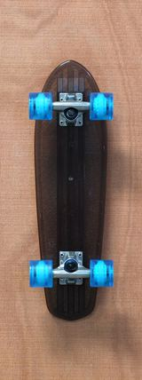 "Globe 24"" Bantam Clear Skateboard Complete - Black/Light Blue"