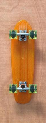 "Globe 24"" Bantam Clears Orange / Lime Skateboard Complete"