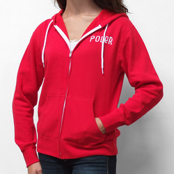 Poler Venn Diagram Red Zip Up Hoodie