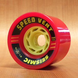 Seismic Speed Vent 73mm 81a Wheels - Red
