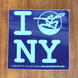 "Bustin Sticker 4"" I Bustin NY Purple"