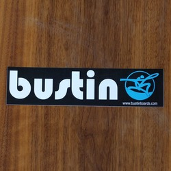 "Bustin Sticker 8"" Rectangle Black"