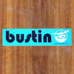 "Bustin Sticker 8"" Rectangle Blue"