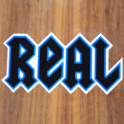 "Real Sticker 11"" New Deeds Blue Large"
