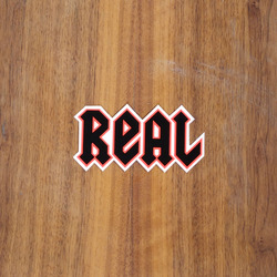 "Real Sticker 4"" New Deeds Orange Small"