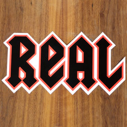 "Real Sticker 11"" New Deeds Orange Large"