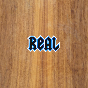 "Real Sticker 4"" New Deeds Blue Small"