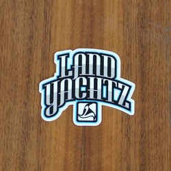 "Landyachtz Sticker 3.25"" Black and Blue"