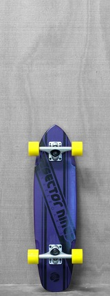 "Sector 9 28"" The 76 Purple Longboard"
