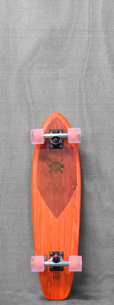 "Globe 30"" Squash Wedge Clear Salmon Longboard"