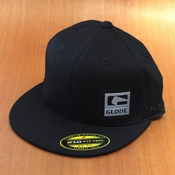 Globe Black Out Flat Brim Hat